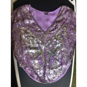 Vintage Butterfly disco pancho